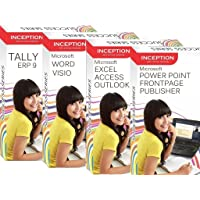 Inception India Learn Microsoft Excel, Word, Power Point, Outlook, Frontpage, Visio, Publisher, Access and Tally ERP 9 (9 Full Courses - 4 CDs)