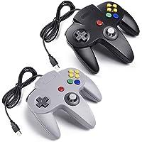 2x Retro 64-bit N64 USB Controller Gamepad Joystick, miadore Classic Wired N64 USB PC Controladores de juegos para…