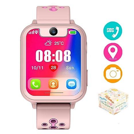 The perseids Reloj inteligente para niños con rastreador GPS, reloj de pulsera para niños de 3 a 14 años ...