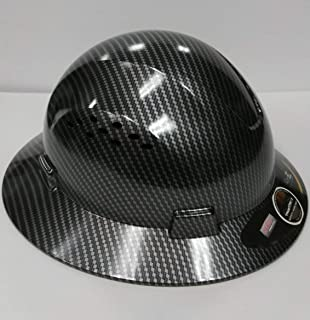7d6e4127daa TRUECREST Hydro Dipped Black Full Brim Hard Hat with Fas-trac Suspension