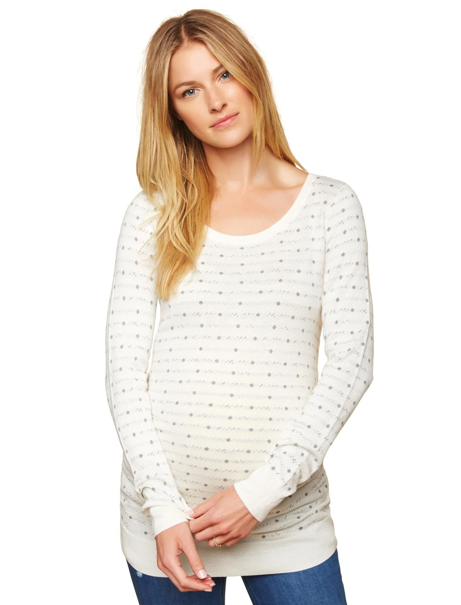 Motherhood Side Ruched Maternity Sweater