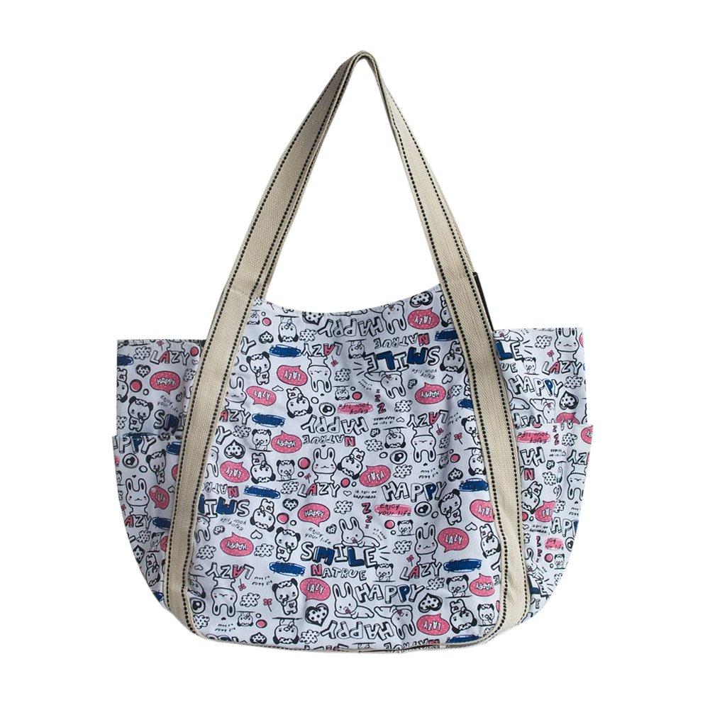 [Lazy Rabbit] Canvas Shoulder Tote Bag