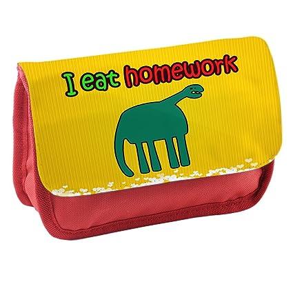 Gracioso 065, I Eat Homework, Rojo Escuela Niños Sublimación Alta ...