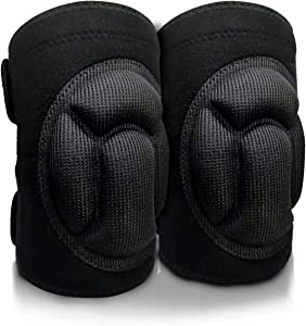 Z&S Home Knee Pads,Durable Non-Slip Cleaning Knee Pads for Knee Protection, Portable Replacement of Kneeling Pad, Safe and Comfortable Kneepads for Gardening Work Scrubbing Floors Dancing Yoga (L)