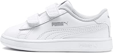 PUMA Unisex Kids Smash V2 L V Ps Low-Top Sneakers, White White, 8 US