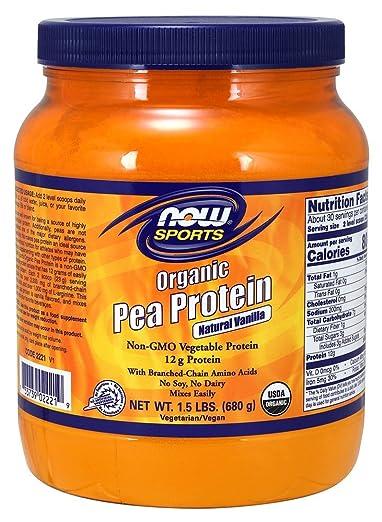 NOW Sports Organic Pea Protein Powder