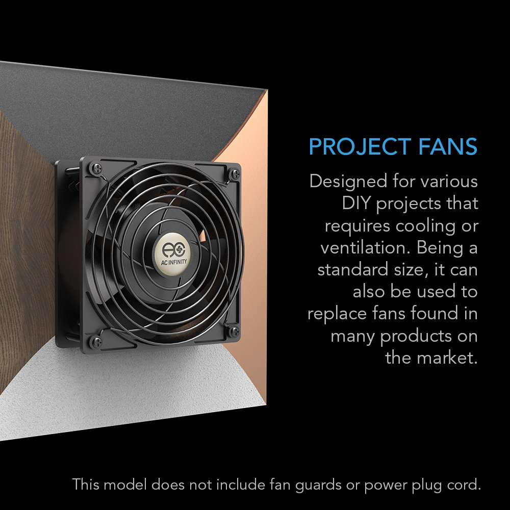 AC Infinity AXIAL 1238W, Muffin Fan, 115V 120V AC 120mm x 38mm High Speed, for DIY Cooling Ventilation Exhaust Projects by AC Infinity (Image #3)