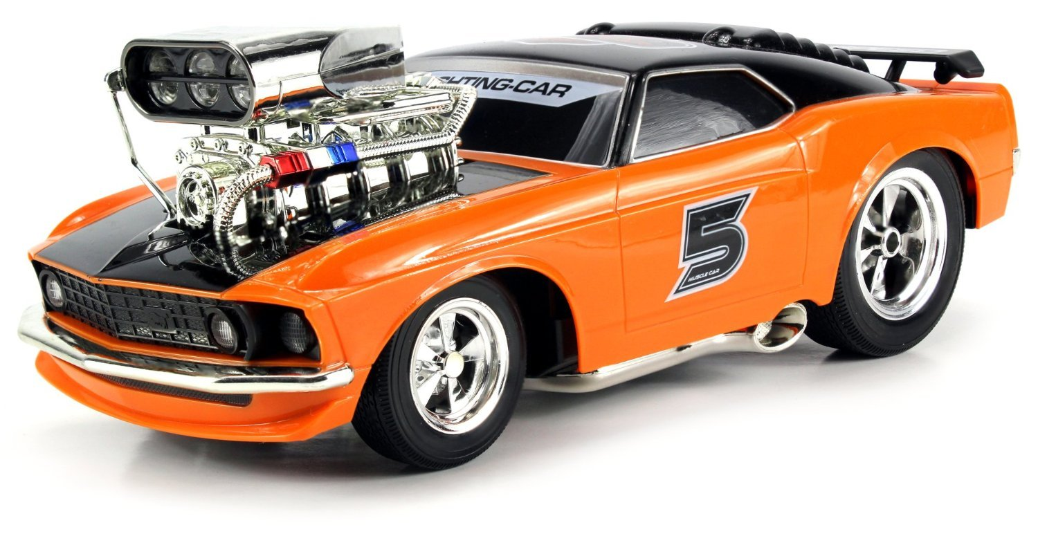Buy webby super 5 ford mustang boss 429 remote control rc muscle car orange online at low prices in india amazon in