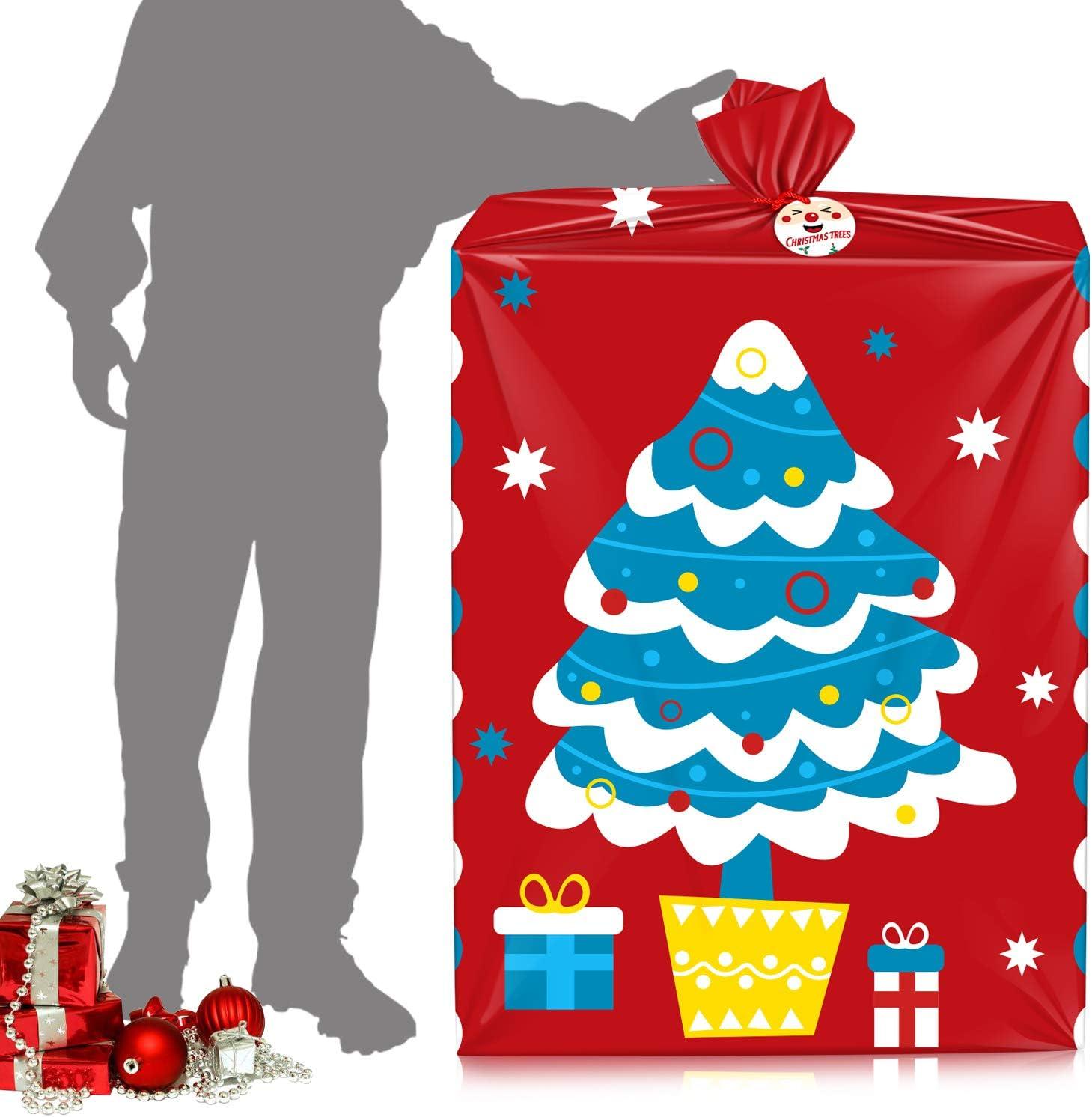 VEYLIN Lot de 2 grands sacs cadeaux de No/ël pour No/ël