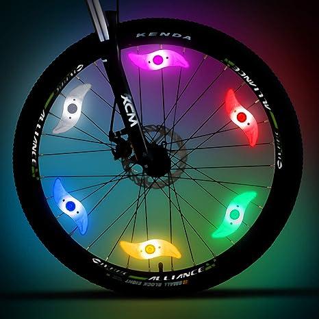 Mopoin Luces de radios para Bicicleta, Luces para Rueda de ...