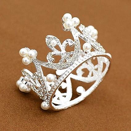 QJXSAN Headwear Regalo de la Corona de la Torta Redonda para hornear accesorios de decoración de