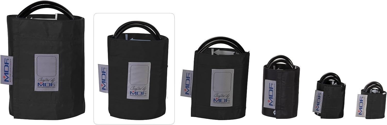 MDF® Adulto grande - Doble tubo Manguito sin látex para presión arterial - Negro (MDF2080460-11)