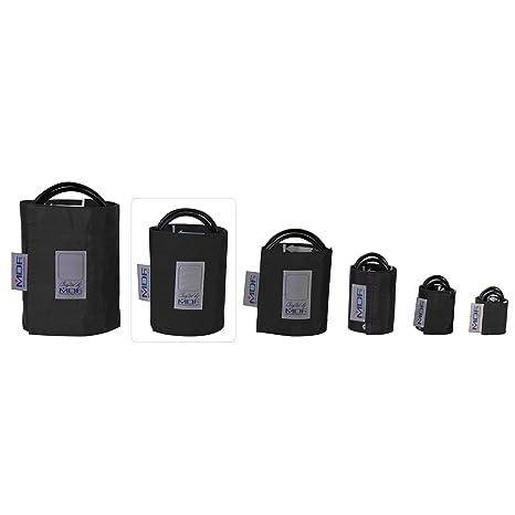 MDF® Adulto grande - Doble tubo Manguito sin látex para presión arterial - Negro (