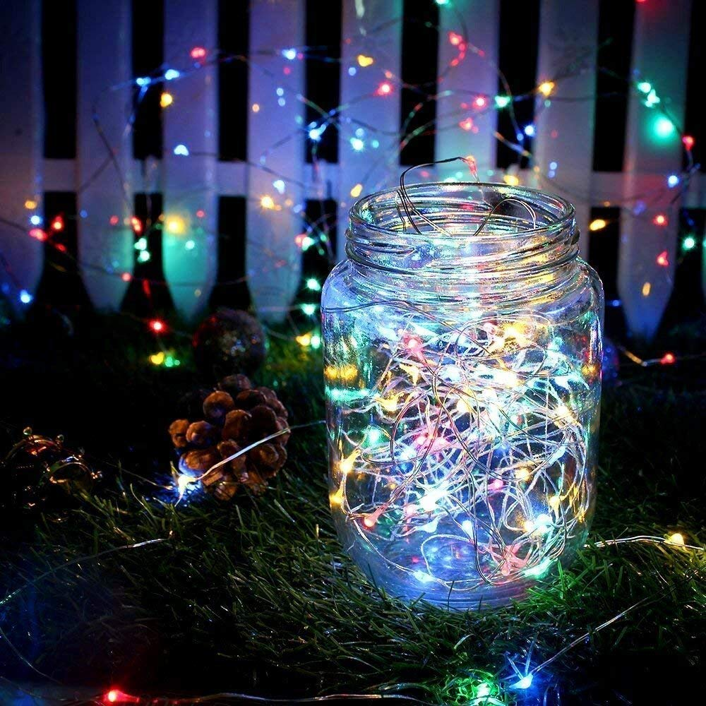 String Lights, ECOWHO 8 Modes 200 LED Fairy Lights with Remote Control, IP67 Waterproof Starry Lights for Garden Bedroom Party (Warm White)