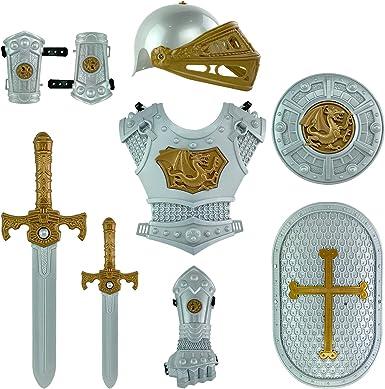 Amazon.com: Juego de disfraz de medieval de caballero en ...