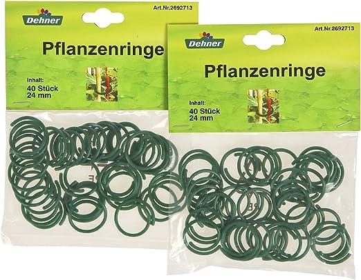 flexibel KINGLAKE Kunststoff-Ringe f/ür Pflanzen 100 St/ück