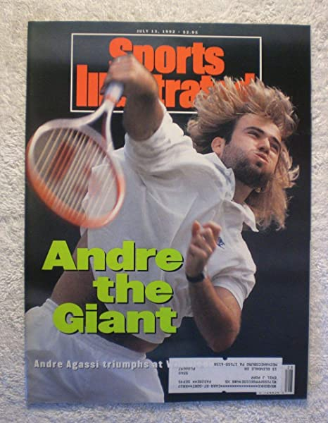 dee25a4ab06196 Andre Agassi - Andre the Giant - 1992 Wimbledon Champion - Sports  Illustrated - July 13