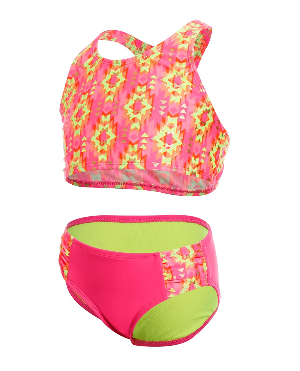 iDrawl Girls Swimsuit Racerback Two Piece Swimwear Tankini