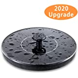 Mademax Solar Bird Bath Fountain Pump, Solar Fountain with 4 Nozzle, Free Standing Floating Solar Powered Water Fountain…