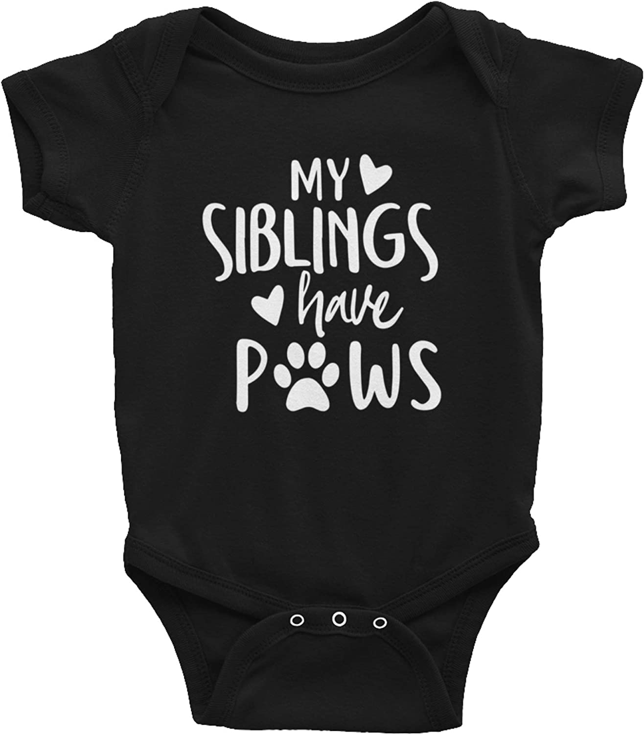 AirBaby My Siblings Have Paws Funny One-Piece Baby Infant Bodysuit