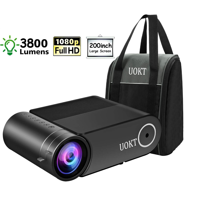 Amazon.com: UOKT 2400 Lux LED Proyector portátil, compatible ...