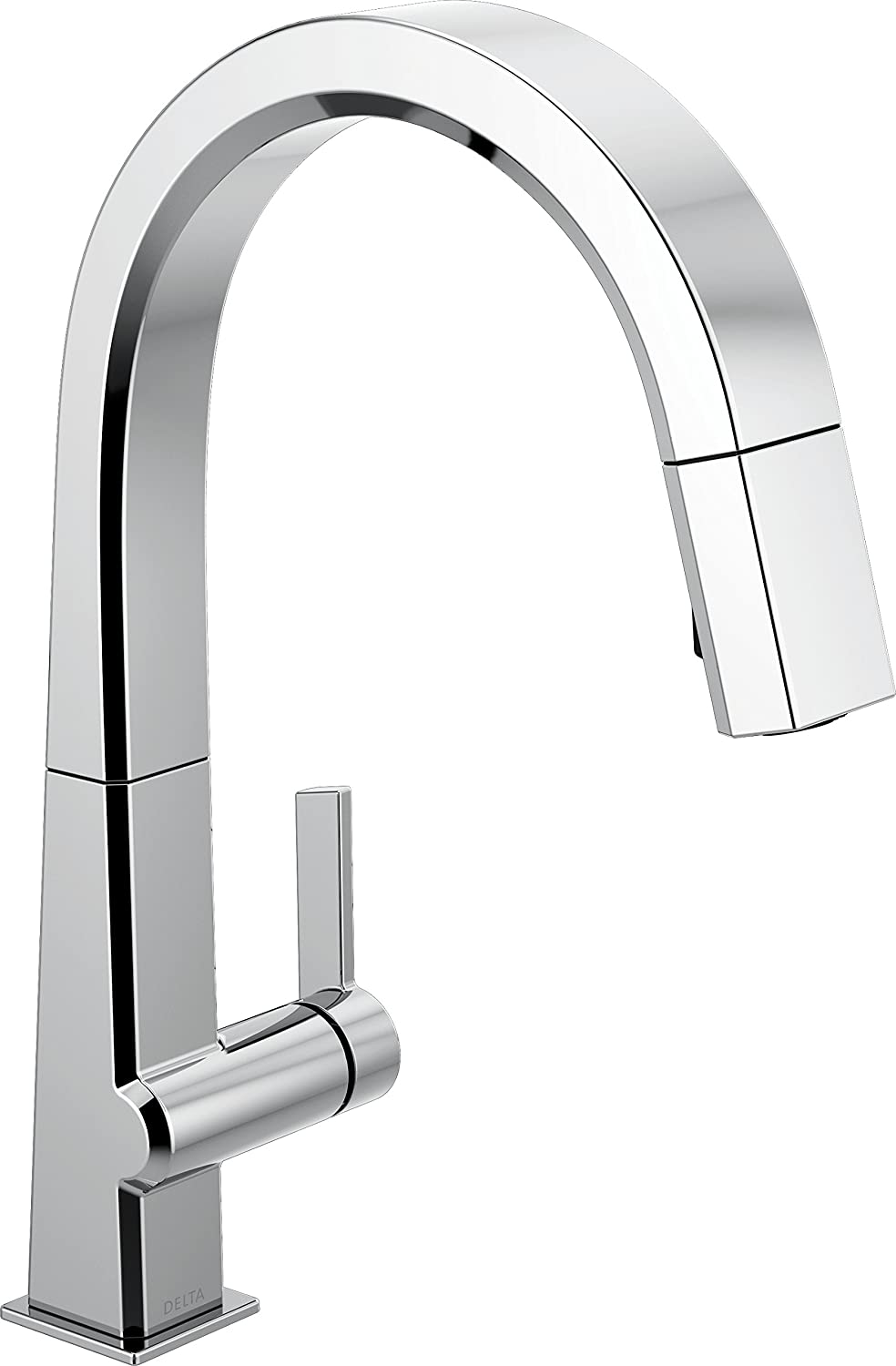 Delta Faucet Pivotal Single-Handle Kitchen Sink Faucet with Pull Down Sprayer and Magnetic Docking Spray Head, Chrome 9193-DST