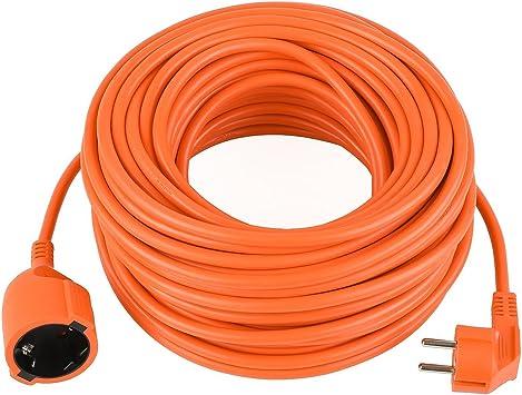 Alargador Cable alargador Jardín Naranja 15 30 m, 2 x 1,5 mm²: Amazon.es: Bricolaje y herramientas