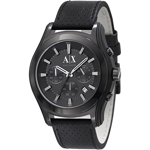 4a8ed7c80c3 Armani Exchange Perforated Black Dial Men s watch  AX2073  Amazon.ca   Watches
