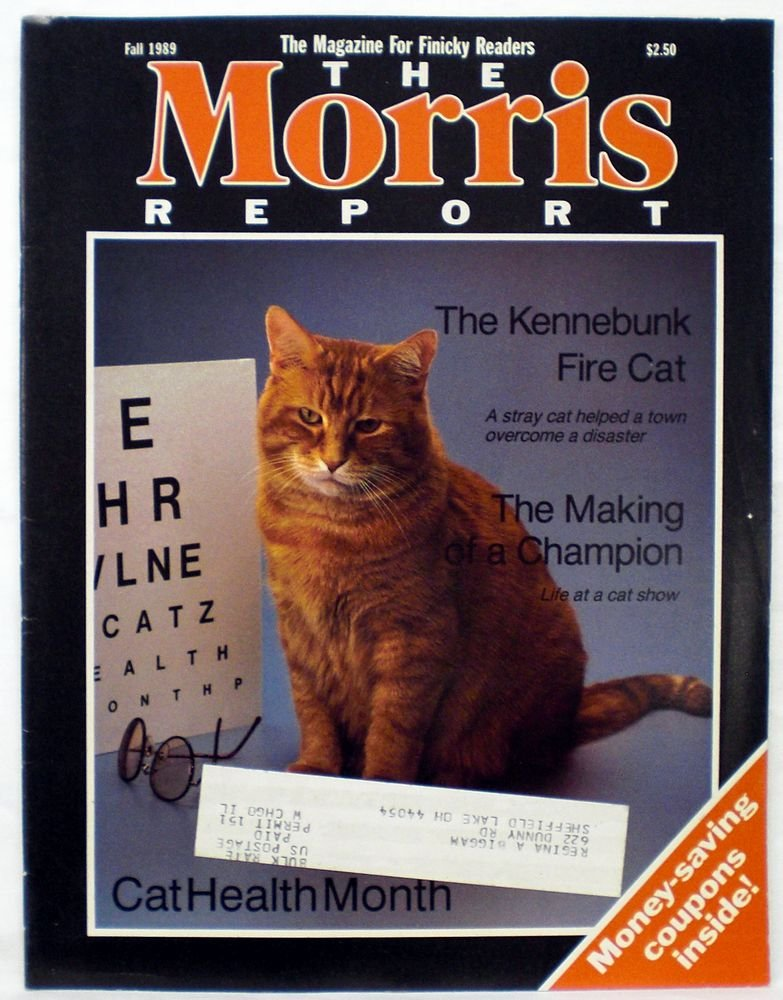 The Morris Report - Cat Care Magazine - Fall 1989 (The Magazine For Finicky Readers, Vol. 3, No. 1)