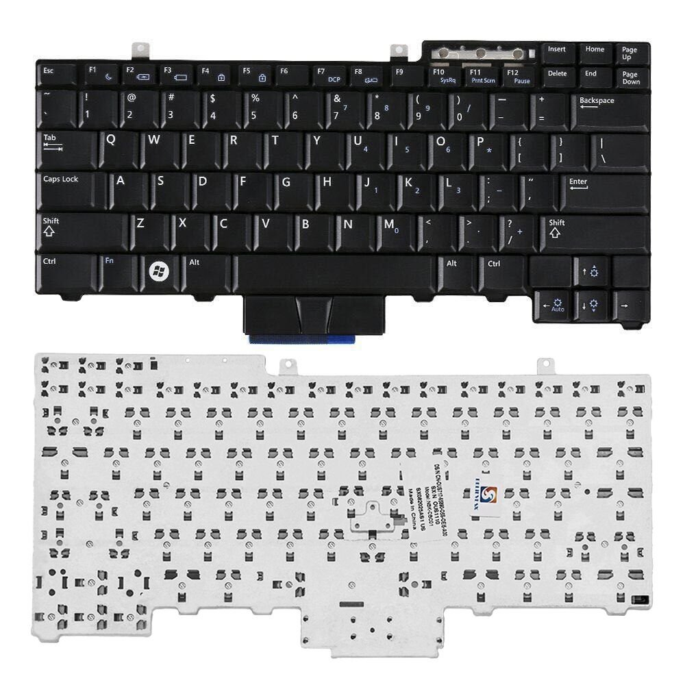 SHINESTAR Replacement Keyboard for Dell Latutide E5410 E6400 E6410 E6500 E6510 E5300 E5400 E5500 E5510 M2400 M4400 M4500 Laptop Series Black US Layout