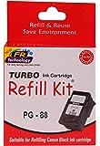 Turbo refill kit for Canon PG 88 black ink cartridge