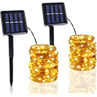 2-Pack BHCLIGHT 100-LED Waterproof Solar String Lights (Warm White)