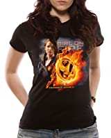 Loud Distribution Hunger Games - Girl On Fire Mocking Jay Women's T-Shirt