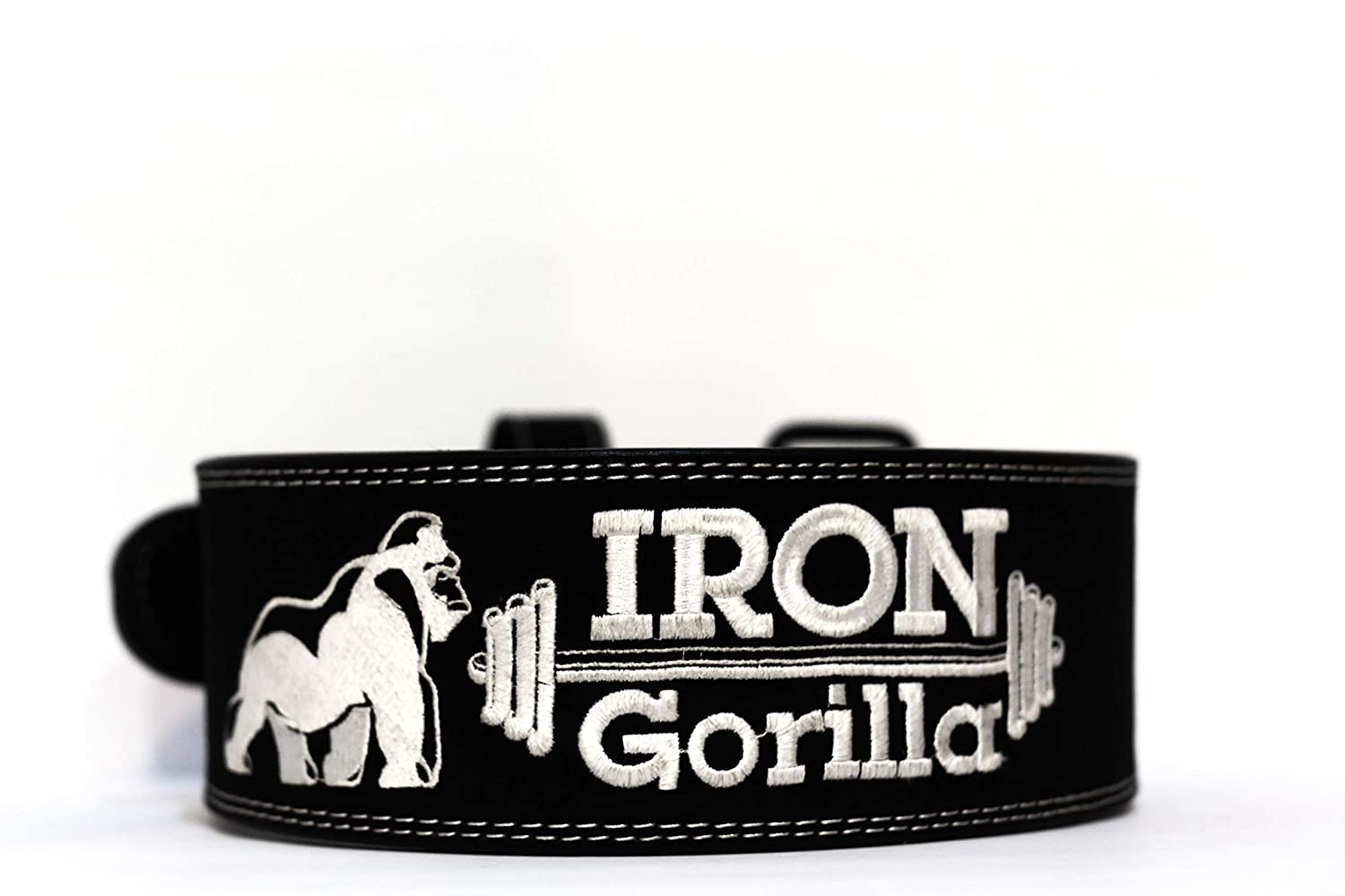 Iron Gorilla Weight Lifting Belt Lifting Belt Powerlifting Belt Belt with Double Prong 100 Cowhide Back Belts for Weight Lifting Great Support Belt for Lifting