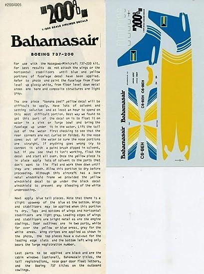 ATP 1 200 Bahamasair Boeing 737 200 Decal Sheet