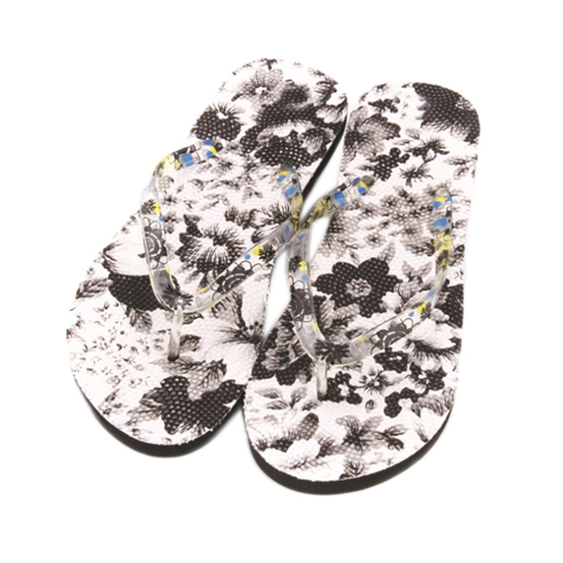 Voberry Women's Flowers Sandal Home Toepost Flip Flops Slippers Beach Shoes (9.5, C)