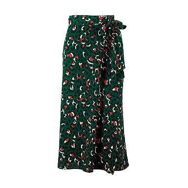 gardenia store Época de Leopardo de impresión largas Faldas de Las ...