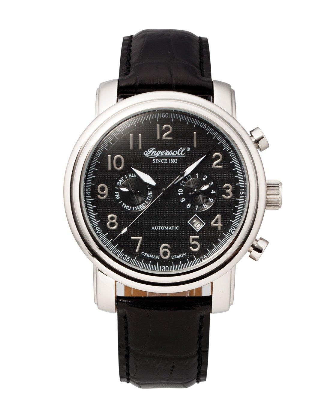 Ingersoll Men's IN1821BK Pullmann Fine Automatic Timepiece Black Dial Watch