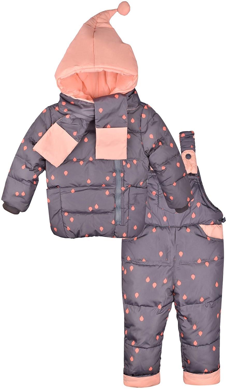 ZOEREA Conjunto de traje de esquí unisex para bebé (3 piezas) YS2251