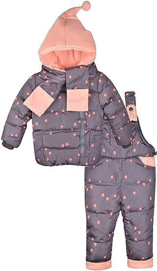 f692b9590 ZOEREA Unisex Baby 3 Piece Ski Suit Hooded Puffer Jacket Snowsuit Outfit  Set Gray: Amazon.co.uk: Clothing