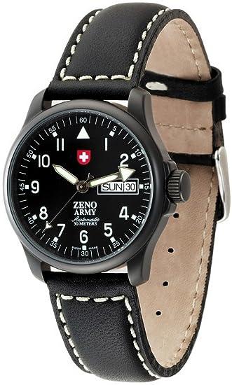 Zeno-Watch Reloj Mujer - Basic Army Day Date black - 12836DDZA-bk-