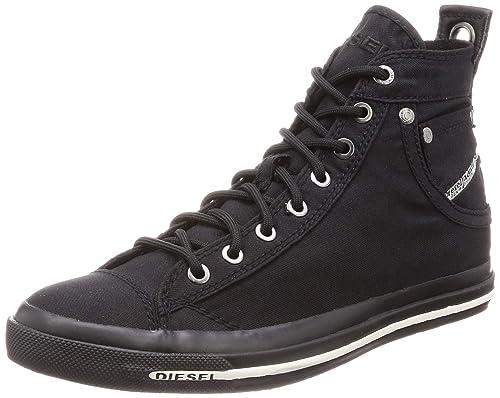 DIESEL Exposure I Zapatillas Moda Hombres Negro - 40 - Zapatillas Altas: Amazon.es: Zapatos y complementos