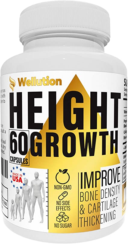Amazon Com Height Growth Maximizer Supplement Natural Height Pills To Grow Taller Made In Usa Growth Pills With Calcium For Bone Strength Get Taller Supplement That Increases Bone Growth
