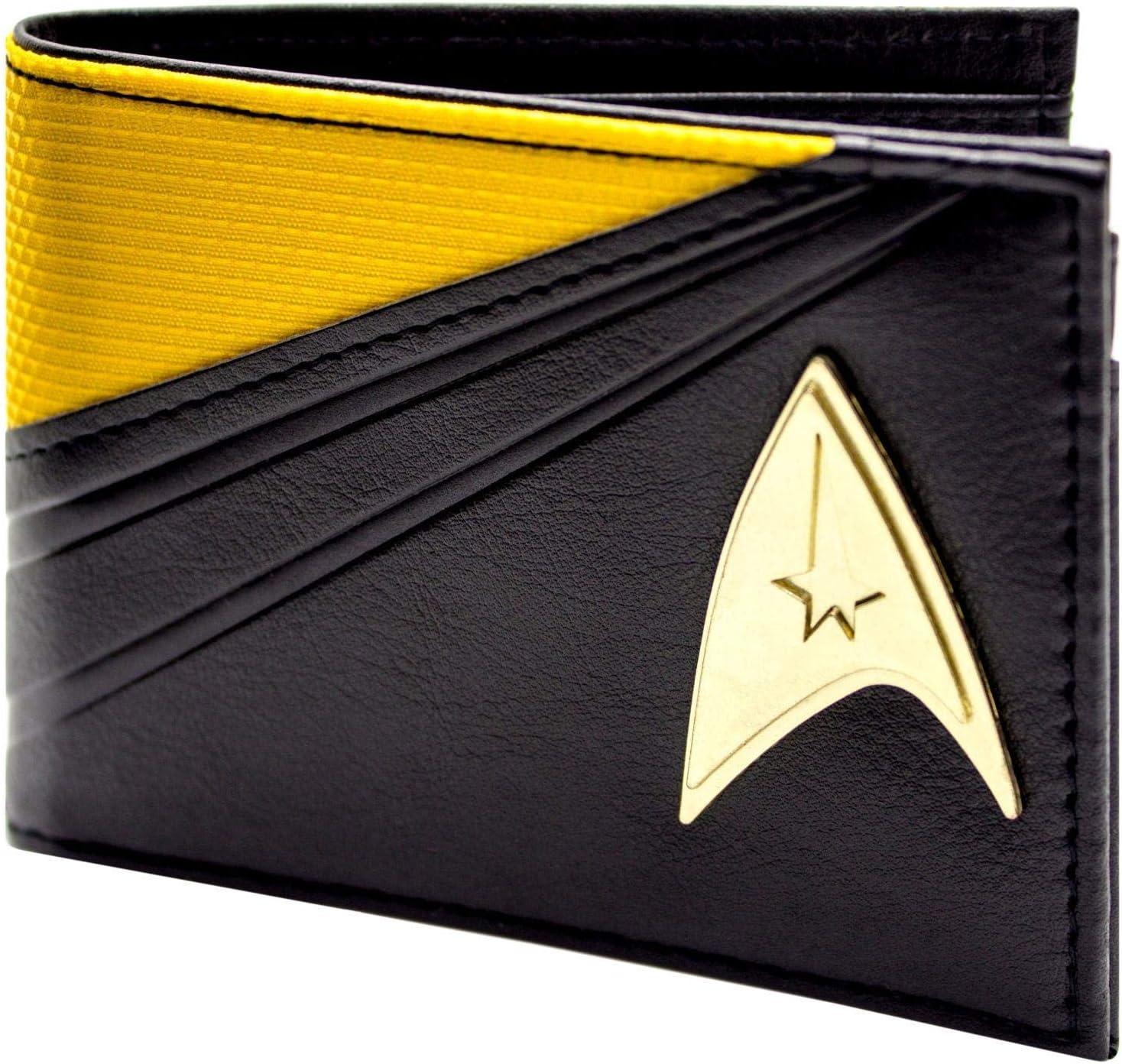 Star Trek Starfleet Command Costume Jaune ID /& carte Bi-Fold Portefeuille