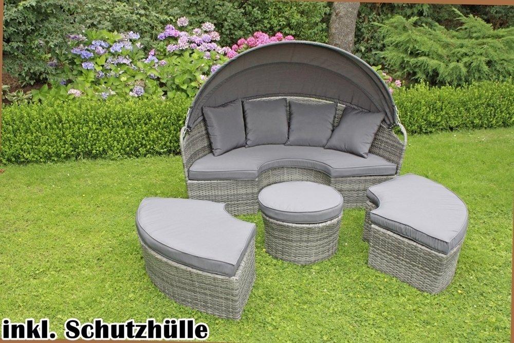 garden pleasure sonneninsel saragossa sitzinsel loungem bel strandkorb loungeinsel gartenliege. Black Bedroom Furniture Sets. Home Design Ideas