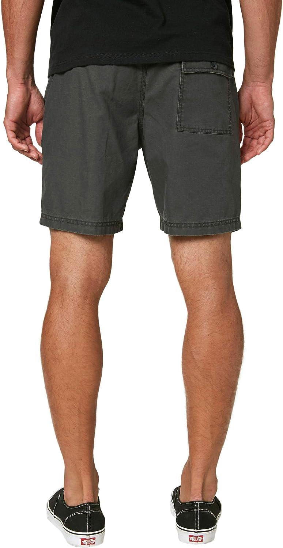 O'NEILL Men's Standard Fit Walk Short, 18 Inch Outseam | Short-Length Short | Graphite / East Bay