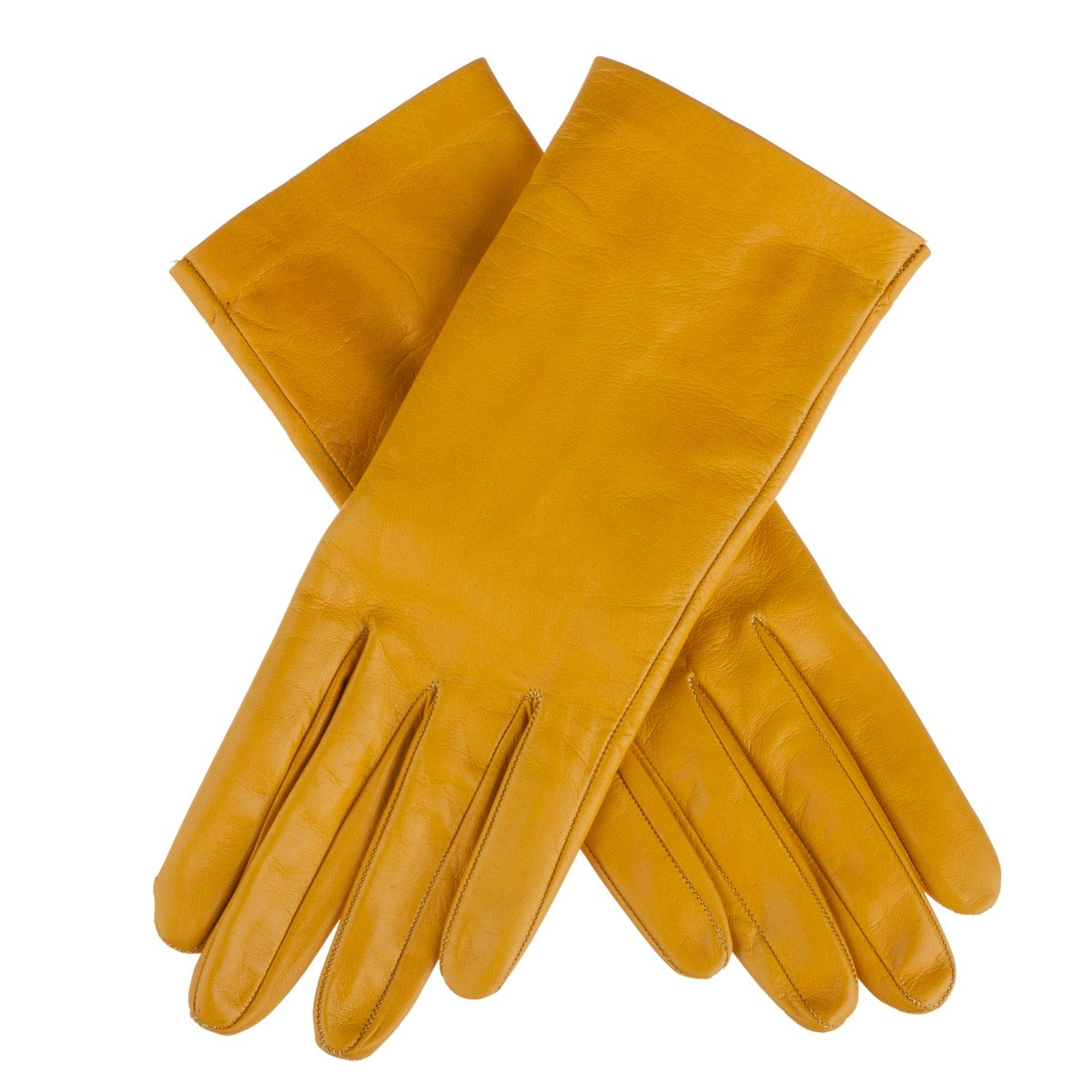 Lundorf Women's Flora Unlined Gloves Danish Design 8 Warm yellow