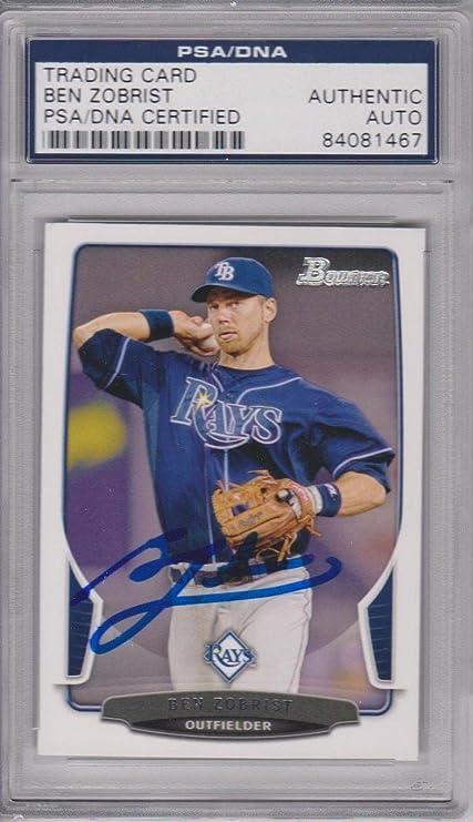a6051dbdb Ben Zobrist Signed Card Authenticated Slabbed - SB15 - PSA/DNA Certified -  Baseball Slabbed