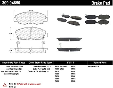 StopTech 309.09080 Street Performance Front Brake Pad