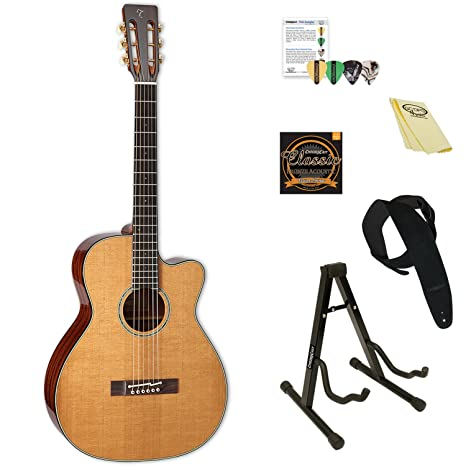 e002db4a44 Amazon.com: Takamine EF740FS TT-KIT-2 Thermal Top Acoustic-Electric Guitar  with Hard Case & ChromaCast Accessories: Musical Instruments